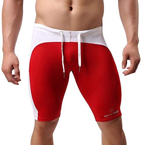 Elogoog Swim Jammers for Men Athletic Swimwear Swimsuit Bathing Suits Swim Trunks