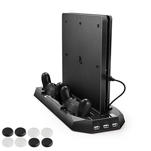 新型PS4スリム ps4 両用 縦置きスタンド PECHAM...