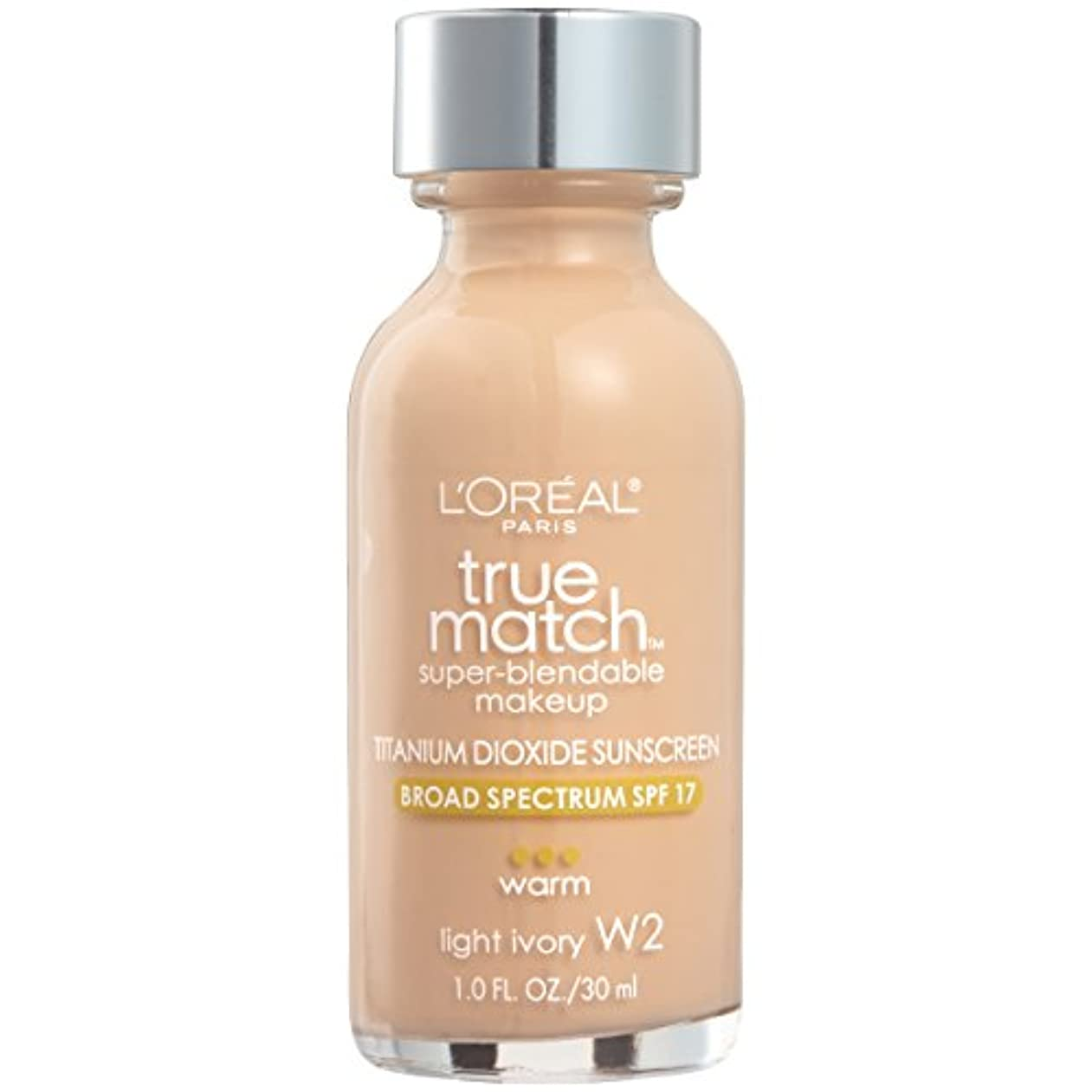 学んだ懸念風L'Oréal True Match Super-Blendable Foundation Makeup (LIGHT IVORY)