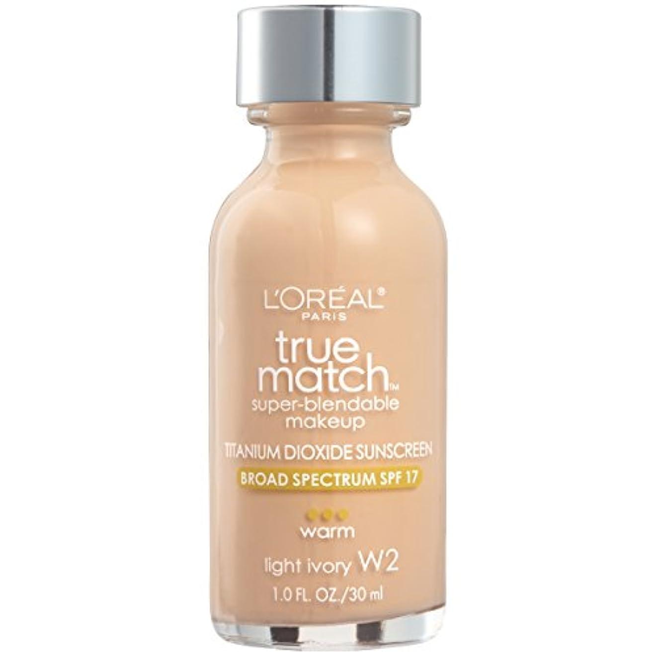 叫び声抵抗力がある代名詞L'Oréal True Match Super-Blendable Foundation Makeup (LIGHT IVORY)