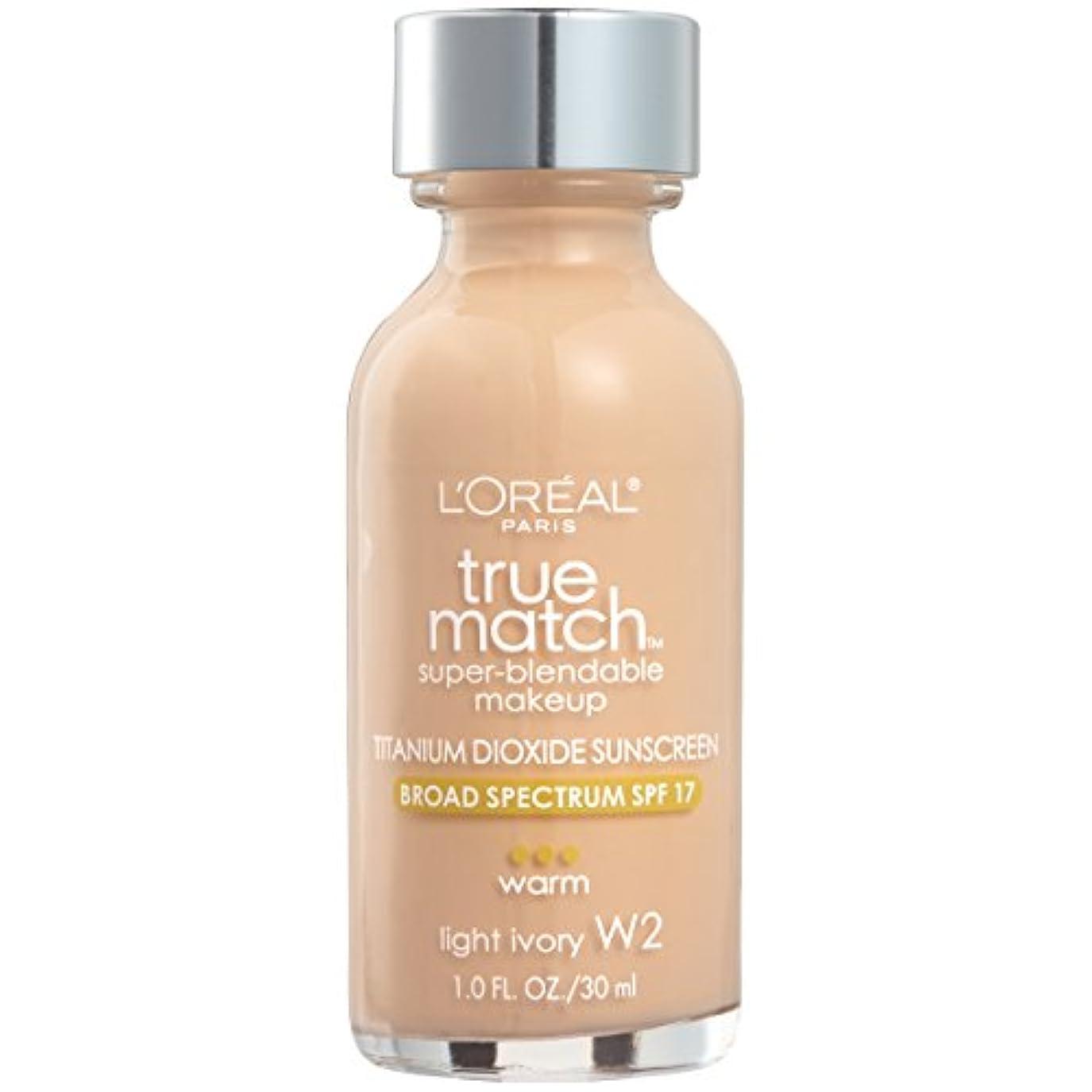 到着煩わしい狂乱L'Oréal True Match Super-Blendable Foundation Makeup (LIGHT IVORY)