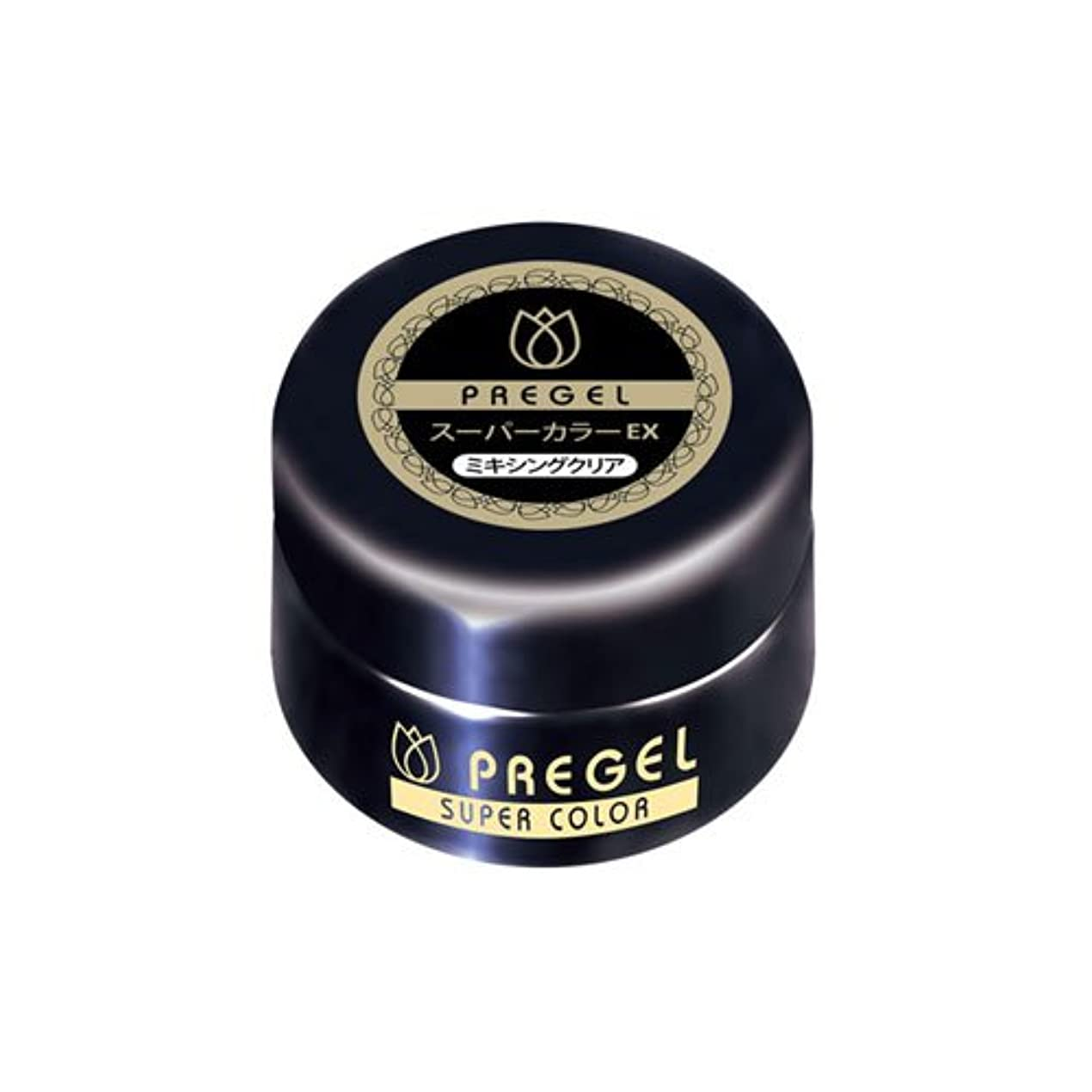 リットル篭お風呂を持っているプリジェル スーパーカラーEX ミキシングクリア 4g  カラージェルの薄め用ジェル UV/LED対応