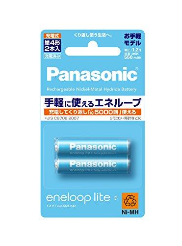 パナソニック エネループ 単4形充電池 2本パック お手軽モデル BK-4LCC/2