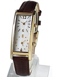 限定モデル[グランドール]GRANDEUR レディースデュアルタイム腕時計 クロコ調型押し牛革ベルト GSX048W9 / ベルトカラー:ブラウン