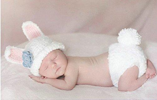 BAOHULU ベビー服 男女共用 着ぐるみ コスチューム コスプレ 赤ちゃん ニット 織物 毛糸 編み物 マーメイド ミニー ウサギ あおむし カラフル
