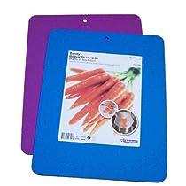 Linden Sweden-Daloplast Bendy Flex Cutting Boards, 11-1/2 by 14-1.3cm, Set of 2, Blue/Purple