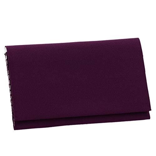 懐紙入れ 袱紗ばさみ 紫