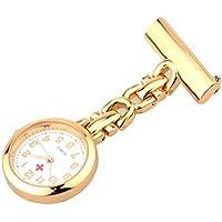 Hemobllo Nurse Watch Brooch Medical Hanging Watch Nurse Lapel Pin Watch for Nurse Decor Gift (Rose Gold)