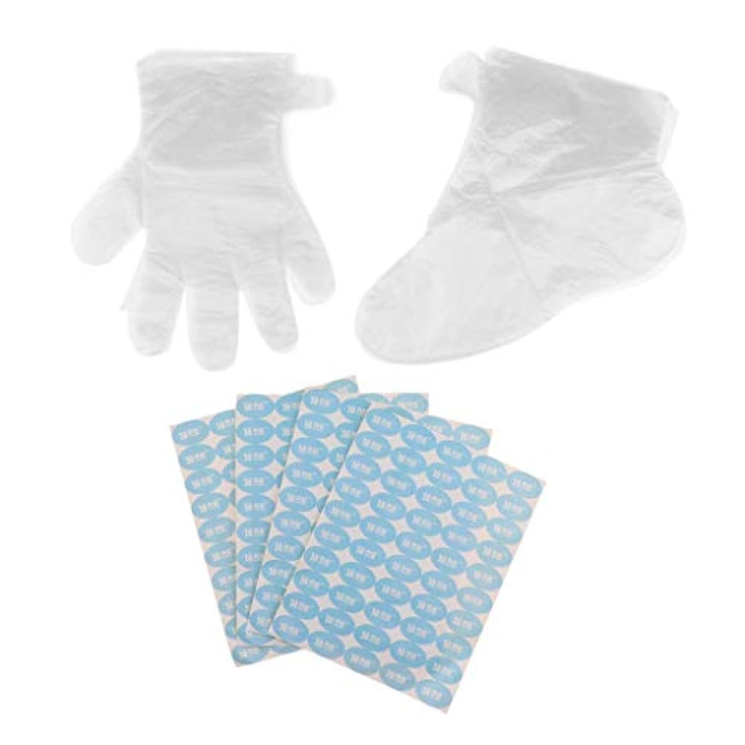声を出してバイバイ西部D DOLITY 使い捨て手袋 ハンドカバー 使い捨てフットカバー 手足のサビース用 2-3シートステッカー付 200個入