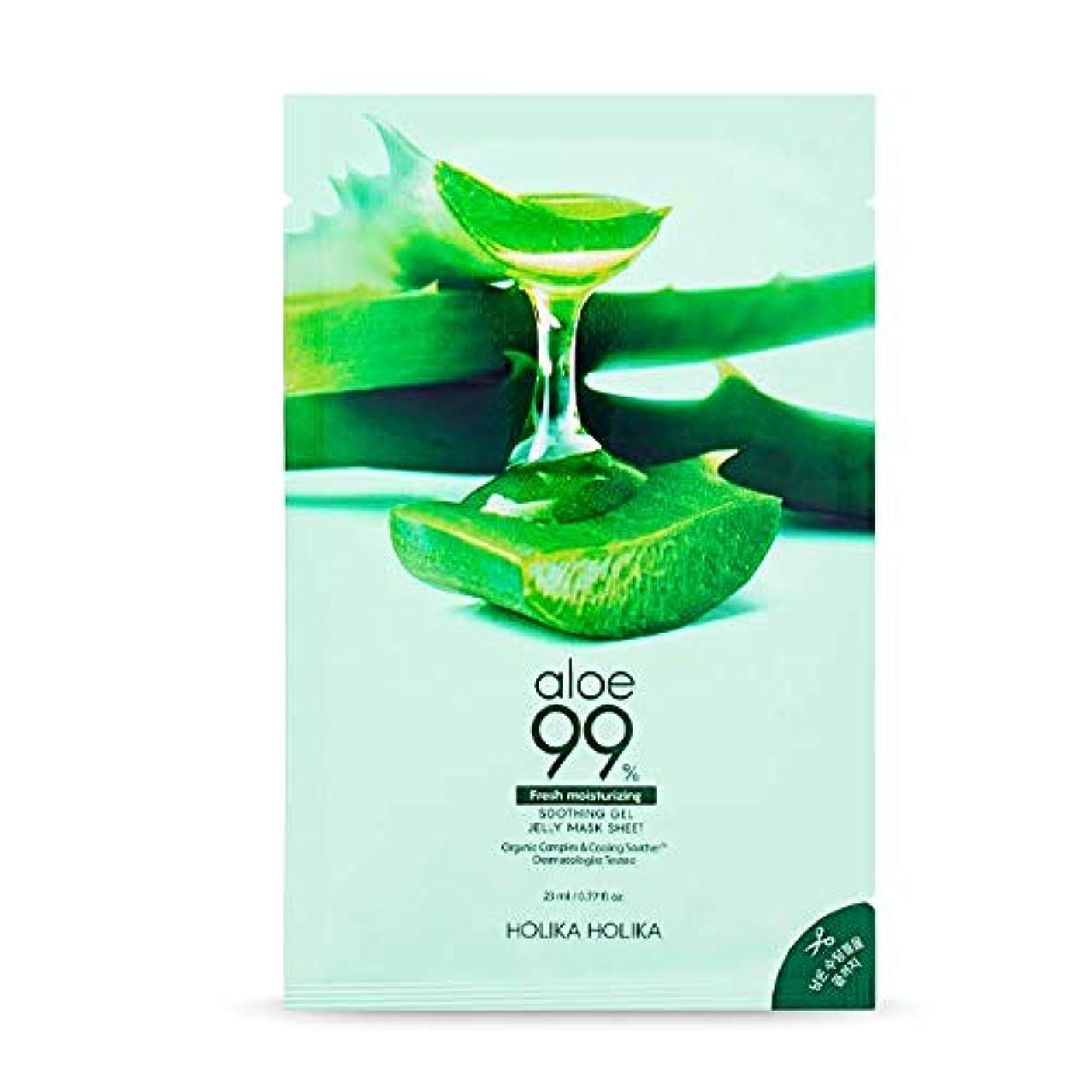 保全ベル校長[Holika Holika] Aloe 99% Soothing Gel Jelly Mask Sheet (23ml × 10 Sheets)/[ホリカホリカ] アロエ 99% スージングジェル ゼリー マスク シート...