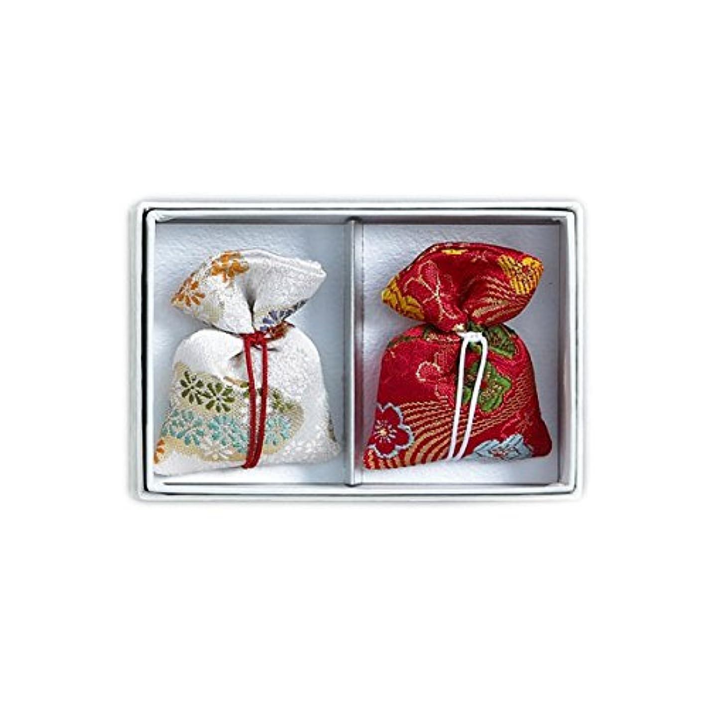 昆虫あいまいさブート匂袋 巾着 キンラン2個入 (紅白)