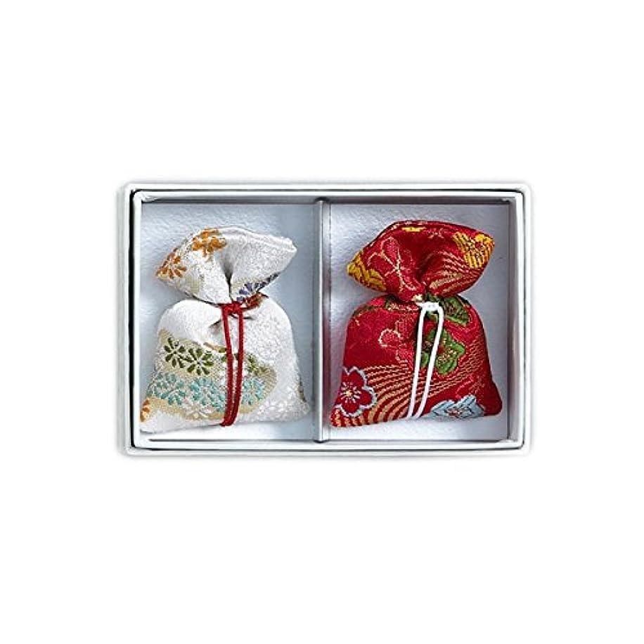 縫い目好色な有害な匂袋 巾着 キンラン2個入 (紅白)
