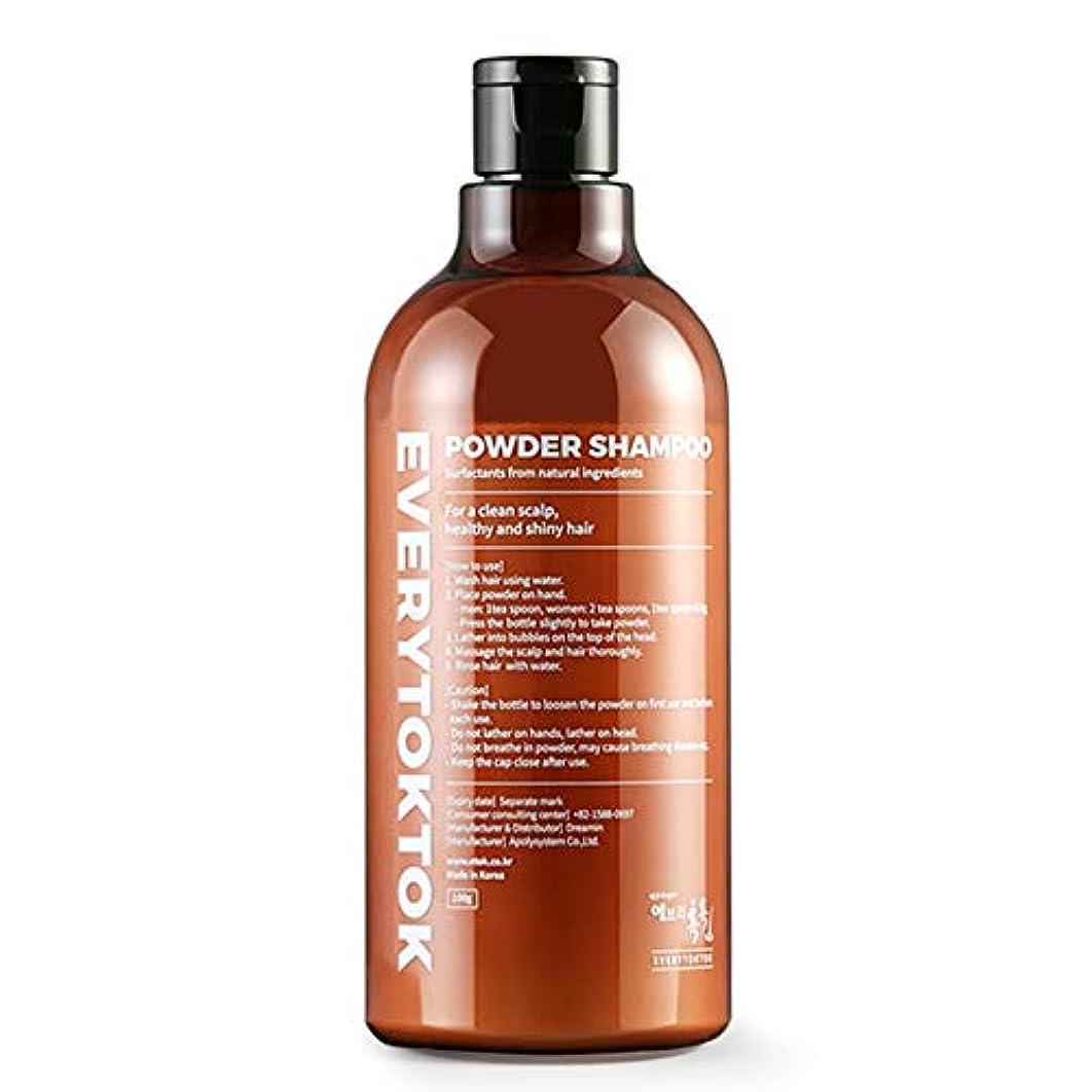 適用済みフルーツ統合[EveryTokTok] パウダーシャンプー - シリコン無、パラベン無、無香料の抗化学 パウダータイプシャンプー 3.52 oz 韓国 シャンプー