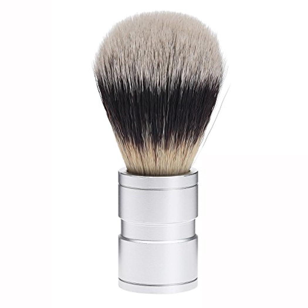 肉やりがいのある囲まれたDophee  シェービング用ブラシ シェービングブラシ メンズ 洗顔ブラシ イミテーションアナグマ毛 ファイン模倣 理容 洗顔 髭剃り