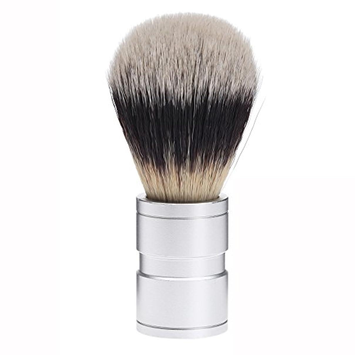 透ける写真撮影重大Dophee  シェービング用ブラシ シェービングブラシ メンズ 洗顔ブラシ イミテーションアナグマ毛 ファイン模倣 理容 洗顔 髭剃り