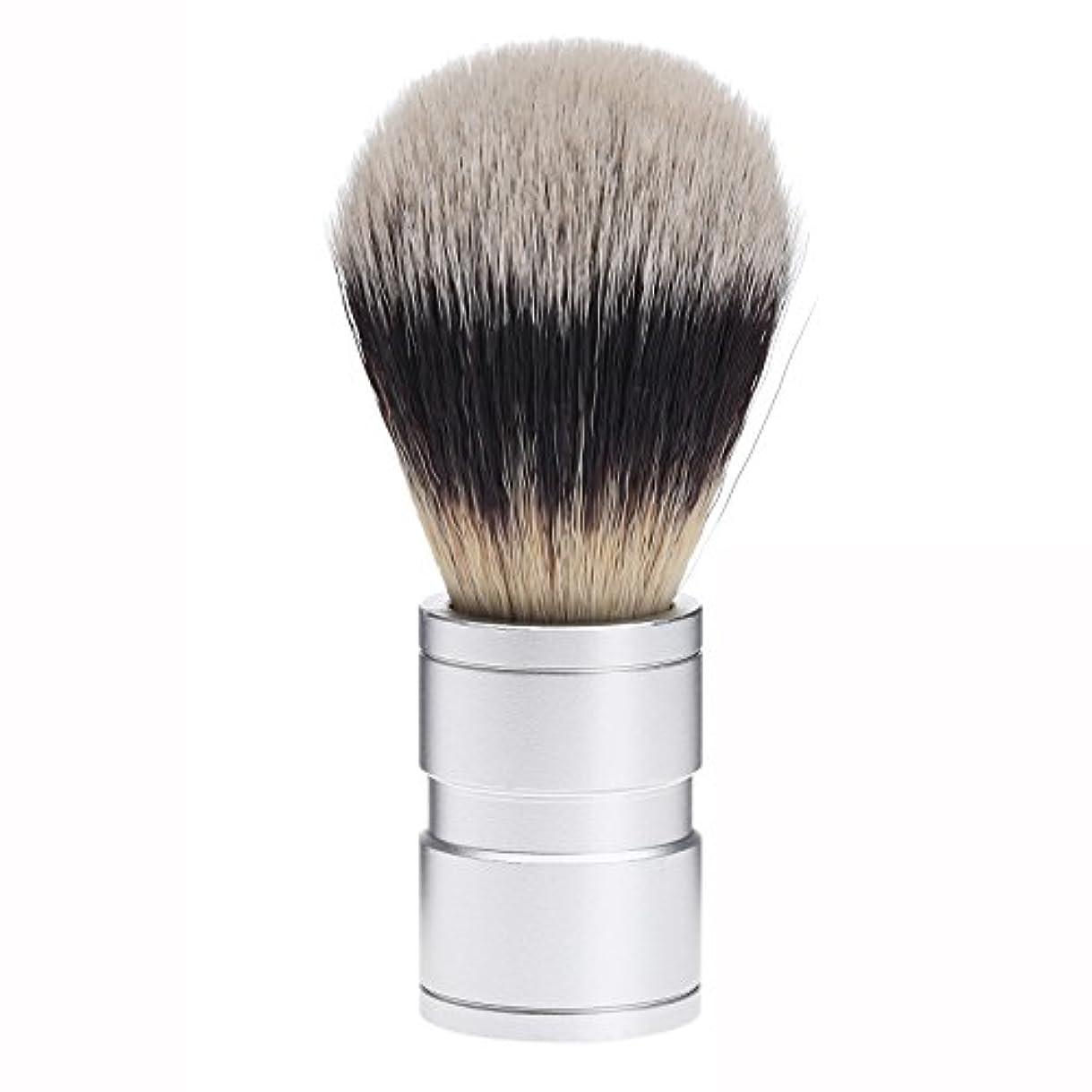 脱走情緒的うるさいDophee  シェービング用ブラシ シェービングブラシ メンズ 洗顔ブラシ イミテーションアナグマ毛 ファイン模倣 理容 洗顔 髭剃り