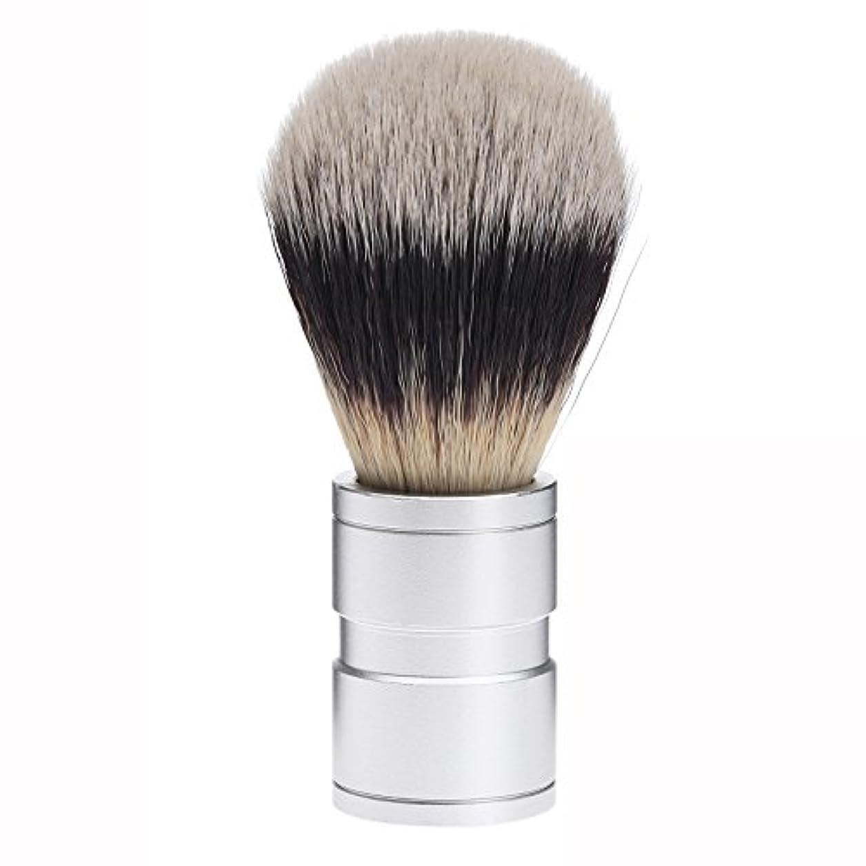 衣装操るインチDophee  シェービング用ブラシ シェービングブラシ メンズ 洗顔ブラシ イミテーションアナグマ毛 ファイン模倣 理容 洗顔 髭剃り