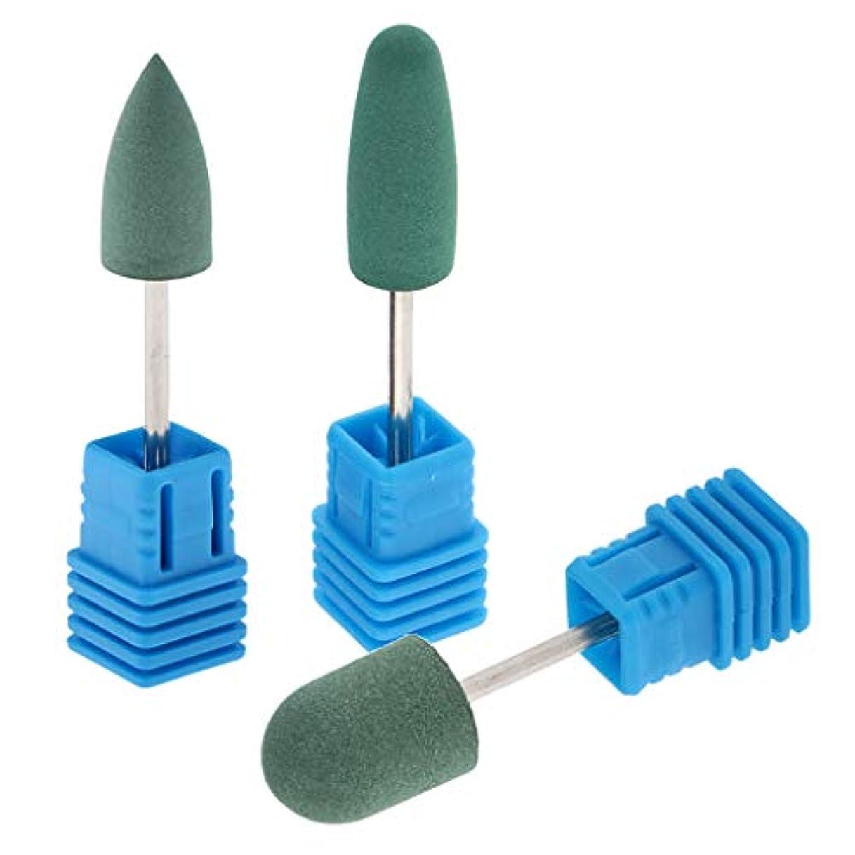 バンド性交親愛なToygogo 3つの形の耐久力のあるシリコーンの釘の穴あけ工具の電気磨く粉砕のバフ研磨の頭部のマニキュアの緩衝