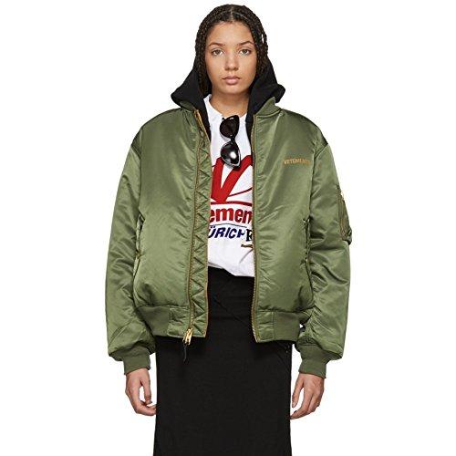 (ヴェトモン) Vetements レディース アウター ブルゾン Reversible Green Alpha Industries Edition Logo Bomber Jacket [並行輸入品]