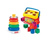 Fisher-Price Baby's First Blocks and Rock Stack Bundle おもちゃ [並行輸入品]