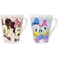 ディズニー 陶器製マグカップ 2種セット(ミッキー&ミニー・ドナルド&デイジー) エアリーコレクション