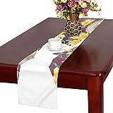 LKCDNG テーブルランナー カラフル 和風の扇子 クロス 食卓カバー 麻綿製 欧米 おしゃれ 16 Inch X 72 Inch (40cm X 182cm) キッチン ダイニング ホーム デコレーション モダン リビング 洗える