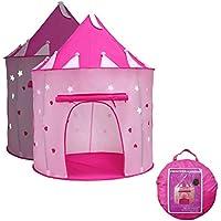 yoobe Princess Castle Play Tent with Glow in the Dark Stars、子供を楽しみ、この折りたたみ式Pop Upピンク再生テント/ House Toy forインドア&アウトドア使用