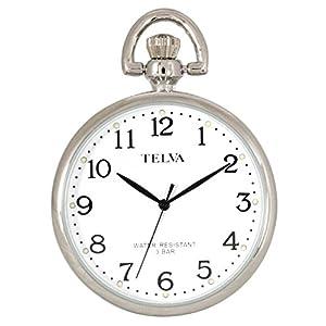 [クレファー]CREPHA 懐中時計 アナログ 3気圧 防水 チェーン 付き ホワイト TE-AM038-WTS