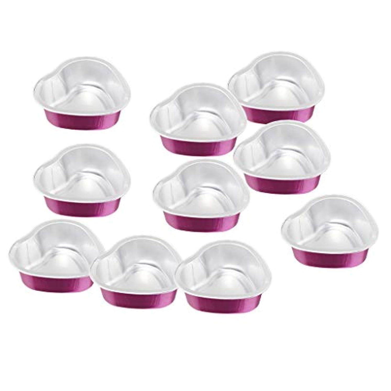 専門紫の談話30g ワックスボウル スモールボウル 心形 アルミ箔 溶融フィルム アクセサリ 10個入