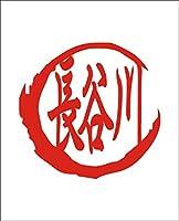 カッティングステッカー 赤 名前 ステッカー シリーズ 「長谷川」 はせがわ はせかわ はぜがわ はやがわ ながたにがわ Hasegawa 苗字 姓名 姓 なまえ 名字 氏 漢字
