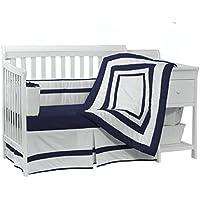 Baby Doll Bedding Modern Hotel Style Crib Bedding Set, Navy by BabyDoll Bedding
