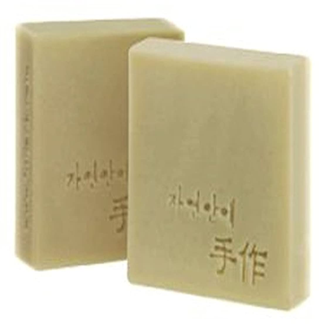 怠な高度なロープNatural organic 有機天然ソープ 固形 無添加 洗顔せっけん [並行輸入品] (マッコリ)