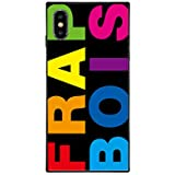 iPhoneケース FRAPBOIS フラボア 【iPhoneXS/X】 スクエア型 ガラスケース Gizmobies ギズモビーズ FRAPBOIS RAINBOW [AB-0952-IP0X-MLTI-A]