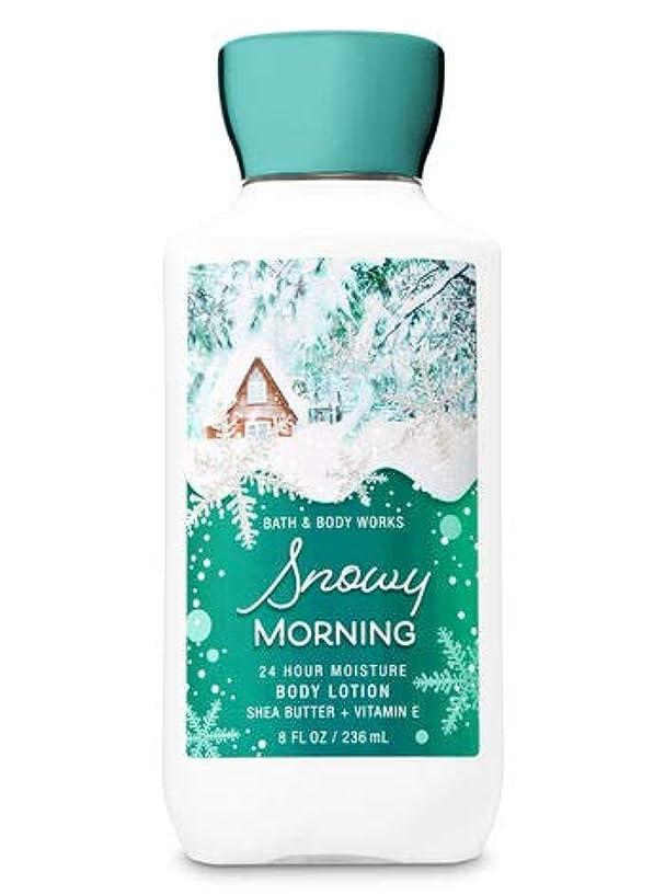 ワンダー刺激する多用途【Bath&Body Works/バス&ボディワークス】 ボディローション スノーウィーモーニング Body Lotion Snowy Morning 8 fl oz / 236 mL [並行輸入品]