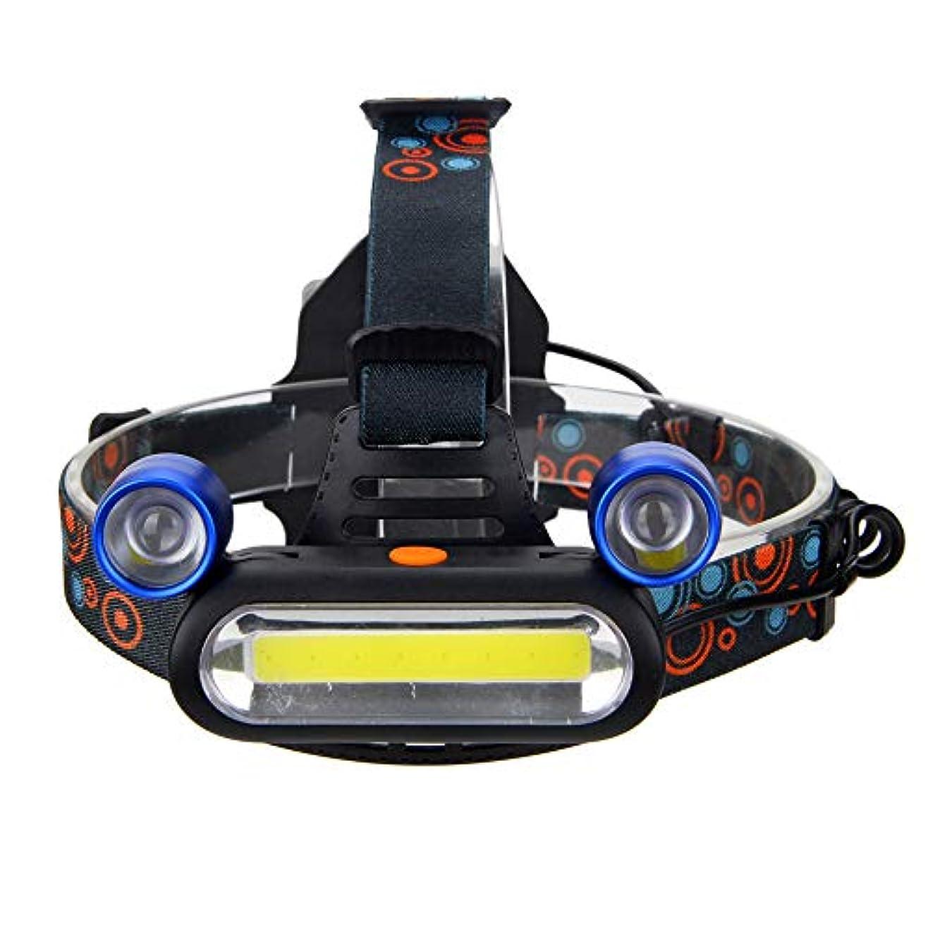 浪費タイマー間隔発信スタイルの楽しみCOB LEDミニヘッドランプ釣りキャンプヘッドライトヘッドランプトーチ8000Lm 3モード