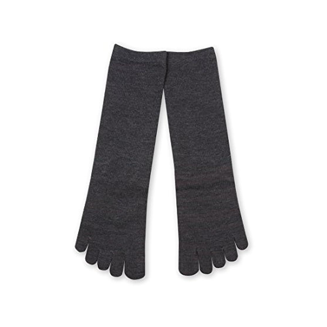 インシデント入るネックレスDeol(デオル) 5本指 ソックス 女性用 靴下 23~25cm グレー