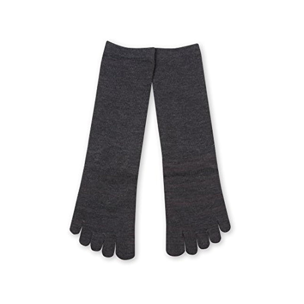 挽く大いに過半数Deol(デオル) 5本指 ソックス 女性用 靴下 23~25cm グレー