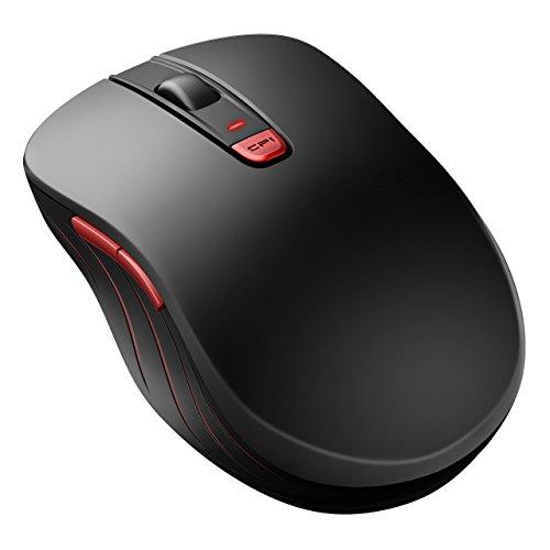 Qtuo ワイヤレスマウス 2.4G無線マウス 5段階DPI調整可能 左右対称デザイン 快適な握り感 休眠モード省電力 電源スイッチ付き 光学式マウス 12ヶ月保証期間