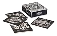 Harley-Davidson Street Machine Coaster Set, 4 Pack Ceramic Set, HDL-18553 by Ace Product Management Group [並行輸入品]