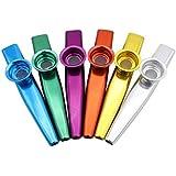 AU-FAFAFA Wind Musical Instrument Mouth Flute Metal Kazoo For Kids(Random Color)