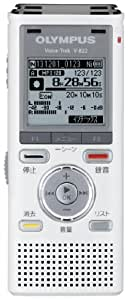 OLYMPUS ICレコーダー VoiceTrek 4GB リニアPCM対応 MicroSD対応 WHT ホワイト V-822