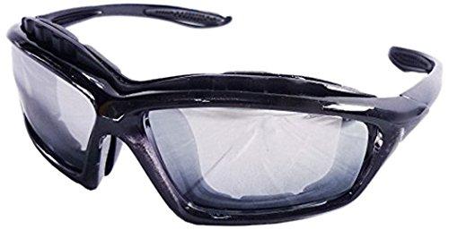 バイシクル ミラー ゴーグル サングラス キャッツアイ バイク用 自転車 ロードレーサー 花粉症 09-6105 (BLACK(ブラック))
