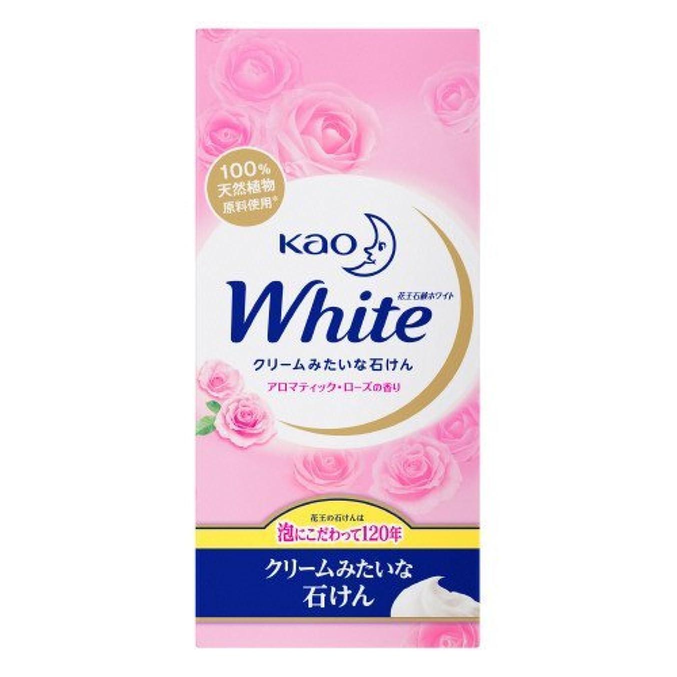 通りおなに【花王】花王ホワイト アロマティックローズの香りレギュラーサイズ (85g×6個) ×20個セット