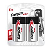 Energizer Max Alkaline E95BP-2 D (Packaging may vary), 2ct