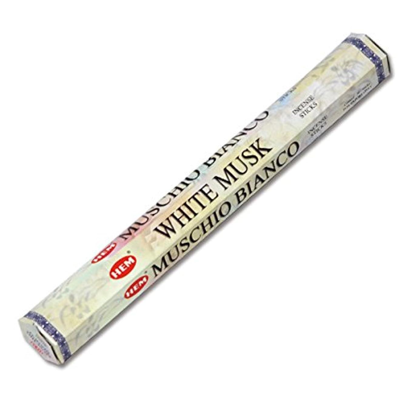 ホールドオール密社会科HEM(ヘム) ホワイト・ムスク WHITE-MUSK スティックタイプ お香 1筒 単品 [並行輸入品]