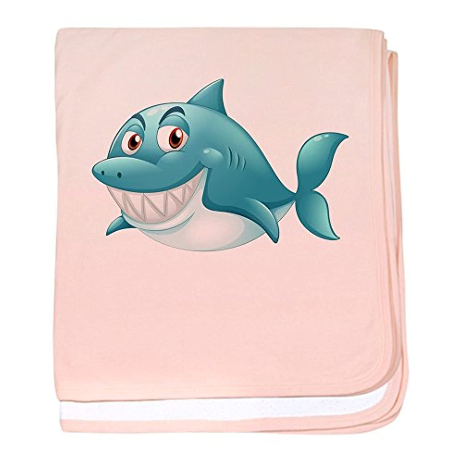 Truly Teague Baby Blanket GrinningブルーShark