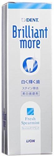 ライオン ブリリアントモア 歯科用 美白歯磨剤 90g フレッシュスペアミント【医薬部外品】