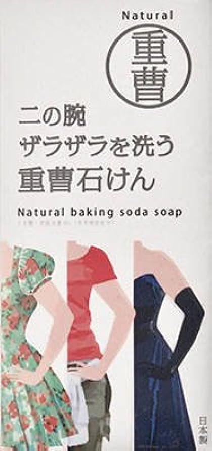 上下する意気込み札入れニの腕を洗う重曹石鹸 135g × 5個セット