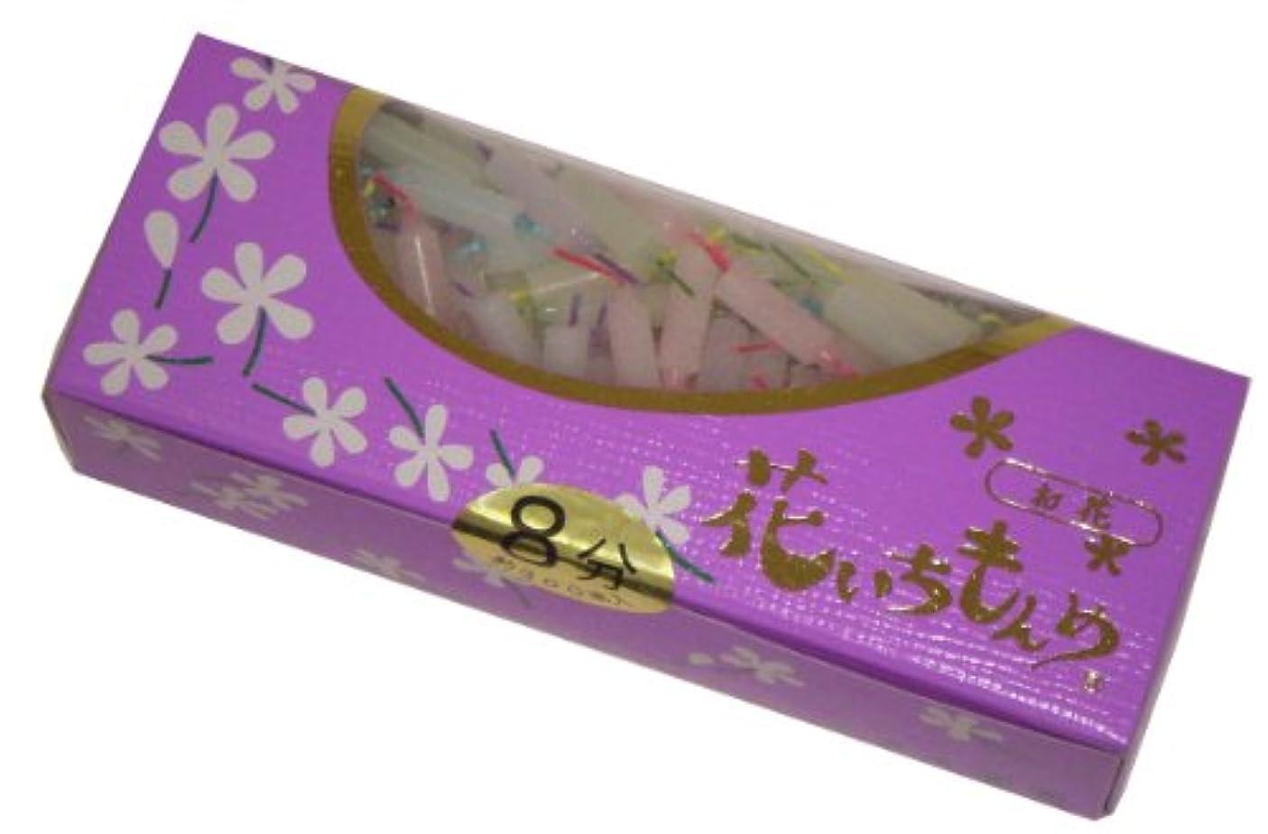 かろうじて見捨てられた強制的佐藤油脂のローソク 花いちもんめ カラー 8分 約300本入