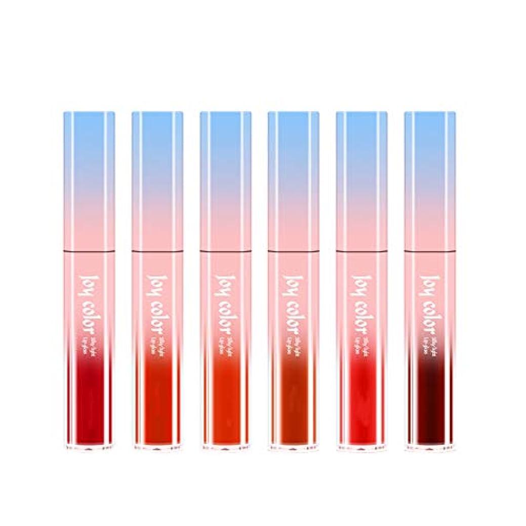 シャッフル商標肉の6ロング防水液体口紅液体リップグロスビロードの光栄養水分化粧品スキンケア